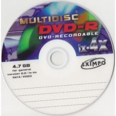 DVD-R Multidisc 4,7GB 4x (1ks) Jewel