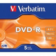DVD-R Verbatim 4,7GB (5ks) Jewel