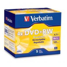 DVD+RW Verbatim 4,7GB 4x Jewel  (1ks)