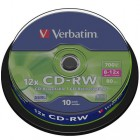 CD-RW Verbatim 12x spindl (10ks)