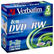 DVD-RW 8cm 1-2x 1,4GB Verbatim (1ks)