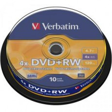 DVD+RW Verbatim 4,7Gb spindl (10ks)