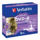 DVD+R Verbatim 4,7GB Light Scribe (5ks)