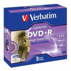 DVD+R Verbatim 4,7GB Light Scribe (5ks)