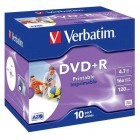 DVD+R Verbatim 4,7GB 8x Printable (10ks) Jewel