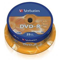 DVD-R Verbatim 4,7GB  spindl (25ks)
